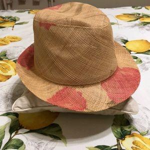 Print straw hat